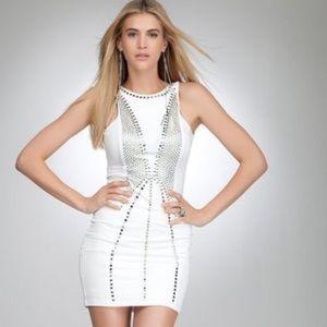 Bebe Addiction White Embellished Dress